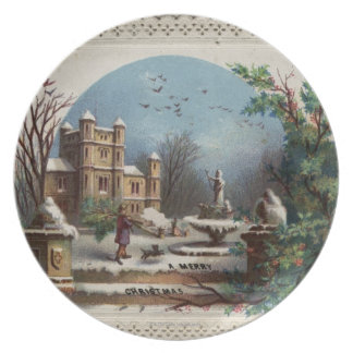 December 1872: The gardener collects holly Plate
