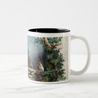 December 1872: The gardener collects holly Two-Tone Coffee Mug
