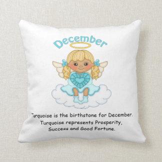 December Birthstone Angel Blonde Throw Cushion