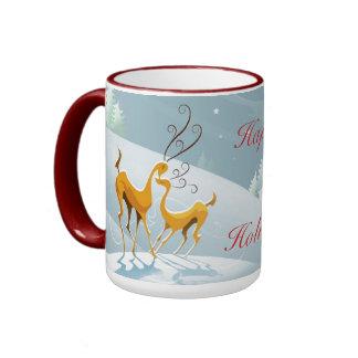 December Happy Holidays Winter Scene Mug Mugs