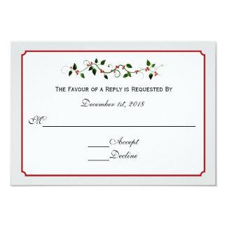 December Holiday Wedding Response RSVP Card