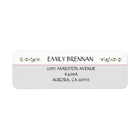 December Holiday Wedding Return Address White Top
