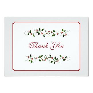 December Holiday Wedding Thank You Flat Card