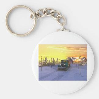 December Morning Basic Round Button Key Ring