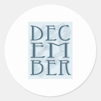 December Round Sticker