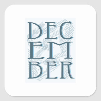 December Square Stickers