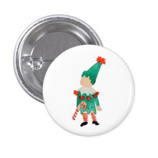 December Toddler Child Christmas Elf 3 Cm Round Badge