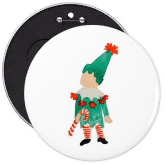 December Toddler Child Christmas Holiday Elf 6 Cm Round Badge