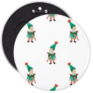 December Toddler Children Christmas Elves Pattern 6 Cm Round Badge