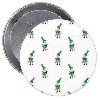 December Toddler Children Christmas Elves Pattern 10 Cm Round Badge