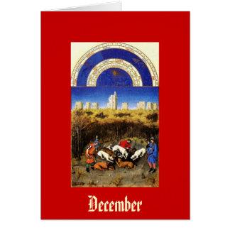 December - Tres Riches Heures du Duc de Berry Card