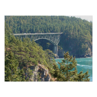Deception Pass Bridge Poster