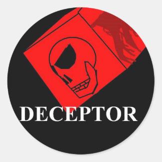 Deceptor Skatebords circlular sticker
