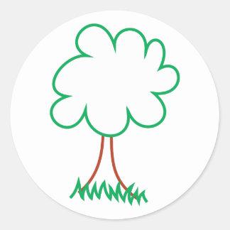 Deciduous Tree Round Sticker