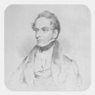 Decimus Burton, lithograph by Maxim Gauci Sticker