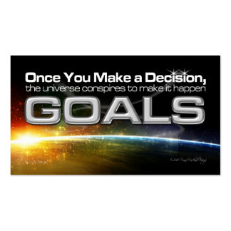 Decision Goal Card Pack Of Standard Business Cards