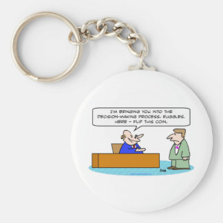 decision making process flip coin key chains