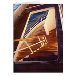 Deck at Sunrise Greeting Card