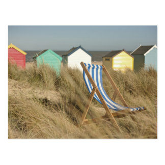 Deck Chair And Beach Huts | Southwold, Suffolk Postcard
