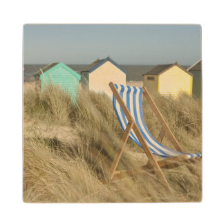 Deck Chair And Beach Huts | Southwold, Suffolk Wood Coaster