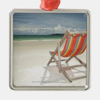 Deck Chair On The White Sand Of Samui Beach Christmas Ornament