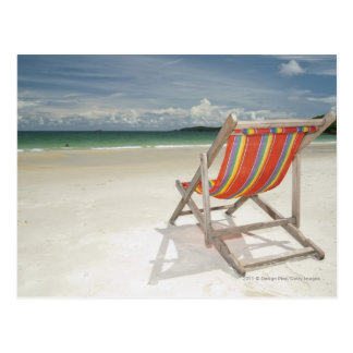 Deck Chair On The White Sand Of Samui Beach Postcard