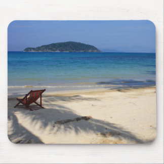 Deck Chair on Tropical Desert Island Mouse Mat