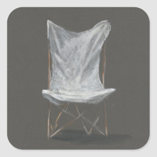 Deck Chair Square Sticker