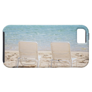 Deck chairs on sandy beach case for the iPhone 5