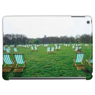 Deck Chairs Spread Out In Green Park, London