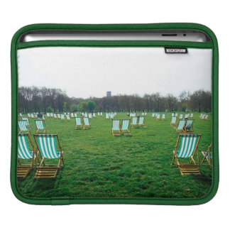 Deck Chairs Spread Out In Green Park, London iPad Sleeve