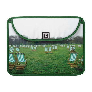 Deck Chairs Spread Out In Green Park, London Sleeve For MacBook Pro