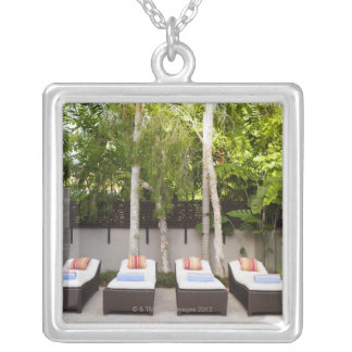 Deck Chairs Tropical House Custom Necklace