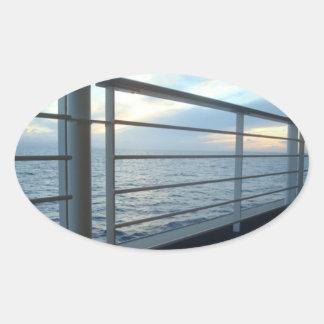 Deck Level View Oval Sticker