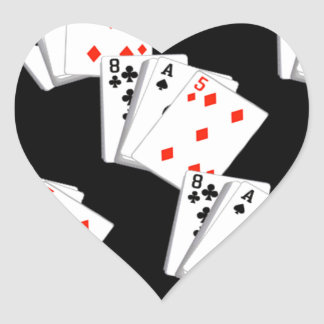 DECK OF CARDS HEART STICKER