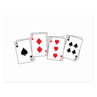 Deck Of Cards Postcards