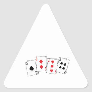 Deck Of Cards Triangle Stickers