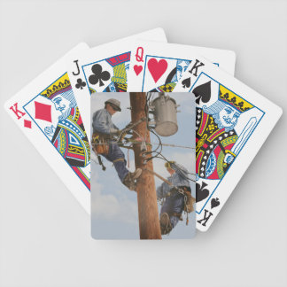 deck of cards with airbrushed lineman print