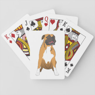 Deck of Poker of boxer dog Playing Cards