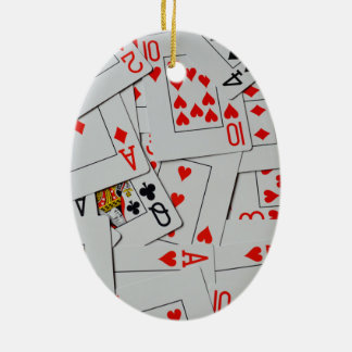 Deck Of Scatter Playing Cards Pattern, Christmas Ornament