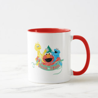 Deck the Hall Sesame Street Mug