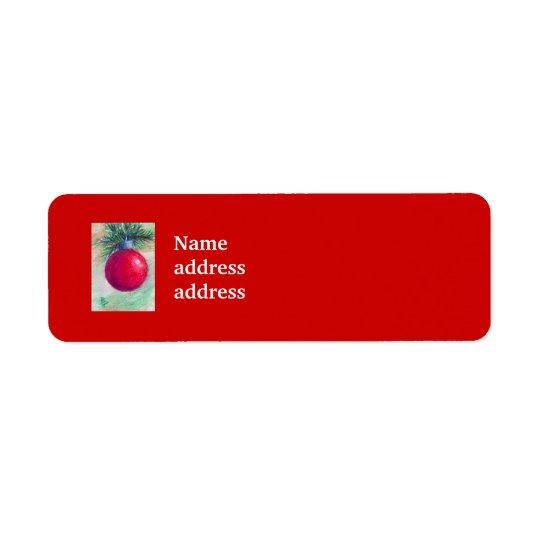 Deck the Halls Avery Return Address Labels