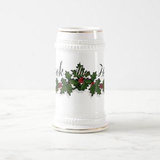Deck the Halls Christmas Beer Stein