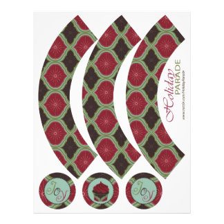 Deck the Halls Cupcake Wrapper Custom Flyer