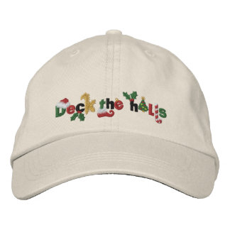 Deck the Halls Embroidered Hat
