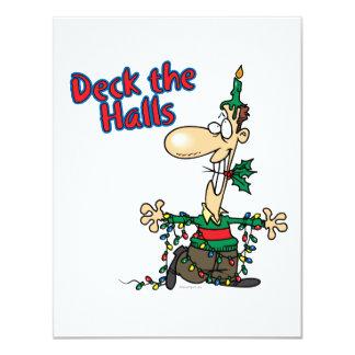 deck the halls funny christmas cartoon card