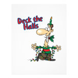 deck the halls funny christmas cartoon personalized flyer