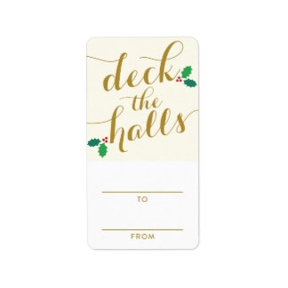 DECK THE HALLS | HOLIDAY GIFT TAGS