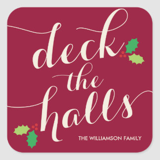 DECK THE HALLS | HOLIDAY STICKERS