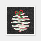 Deck the Halls Let's Party Black and White Holiday Disposable Serviette